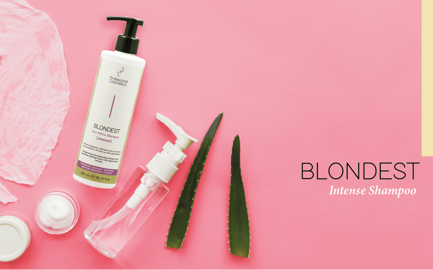 Blondest Intense Shampoo: the blondest one.